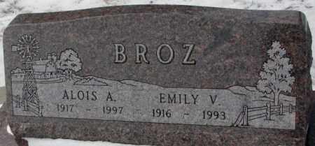 BROZ, EMILY V. - Bon Homme County, South Dakota | EMILY V. BROZ - South Dakota Gravestone Photos