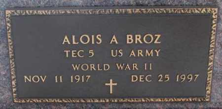 BROZ, ALOIS A. (WW II ) - Bon Homme County, South Dakota | ALOIS A. (WW II ) BROZ - South Dakota Gravestone Photos