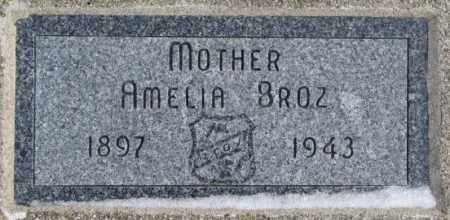 BROZ, AMELIA - Bon Homme County, South Dakota | AMELIA BROZ - South Dakota Gravestone Photos