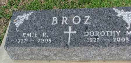 BROZ, EMIL R. - Bon Homme County, South Dakota | EMIL R. BROZ - South Dakota Gravestone Photos