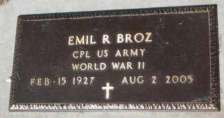 BROZ, EMIL R. (WW II) - Bon Homme County, South Dakota | EMIL R. (WW II) BROZ - South Dakota Gravestone Photos