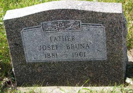 BRUNA, JOSEF - Bon Homme County, South Dakota | JOSEF BRUNA - South Dakota Gravestone Photos
