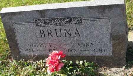 BRUNA, ANNA - Bon Homme County, South Dakota   ANNA BRUNA - South Dakota Gravestone Photos