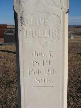 BULLIS, OLIVE (CLOSEUP) - Bon Homme County, South Dakota | OLIVE (CLOSEUP) BULLIS - South Dakota Gravestone Photos