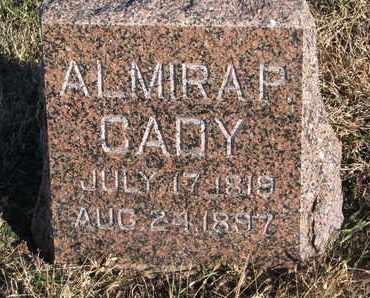 CADY, ALMIRA P. - Bon Homme County, South Dakota   ALMIRA P. CADY - South Dakota Gravestone Photos