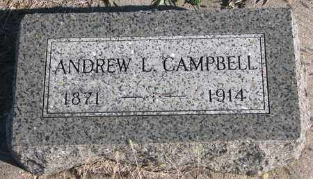 CAMPBELL, ANDREW L. - Bon Homme County, South Dakota | ANDREW L. CAMPBELL - South Dakota Gravestone Photos