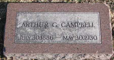 CAMPBELL, ARTHUR G. - Bon Homme County, South Dakota | ARTHUR G. CAMPBELL - South Dakota Gravestone Photos