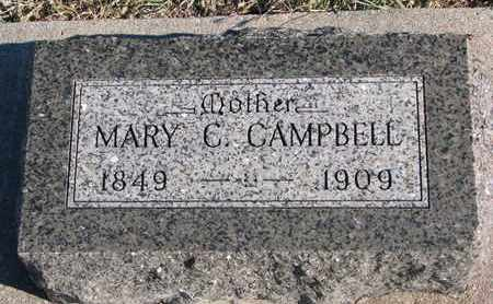 CAMPBELL, MARY C. - Bon Homme County, South Dakota | MARY C. CAMPBELL - South Dakota Gravestone Photos