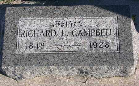 CAMPBELL, RICHARD L. - Bon Homme County, South Dakota | RICHARD L. CAMPBELL - South Dakota Gravestone Photos