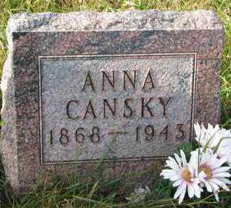 CANSKY, ANNA - Bon Homme County, South Dakota   ANNA CANSKY - South Dakota Gravestone Photos