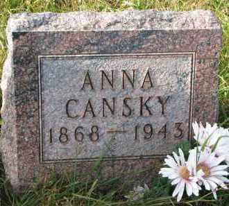 CANSKY, ANNA - Bon Homme County, South Dakota | ANNA CANSKY - South Dakota Gravestone Photos