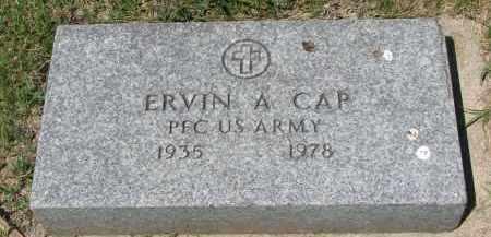 CAP, ERVIN A. (MILITARY) - Bon Homme County, South Dakota | ERVIN A. (MILITARY) CAP - South Dakota Gravestone Photos