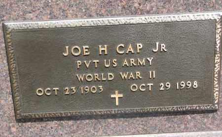 CAP, JOE H. JR. (WW II) - Bon Homme County, South Dakota | JOE H. JR. (WW II) CAP - South Dakota Gravestone Photos