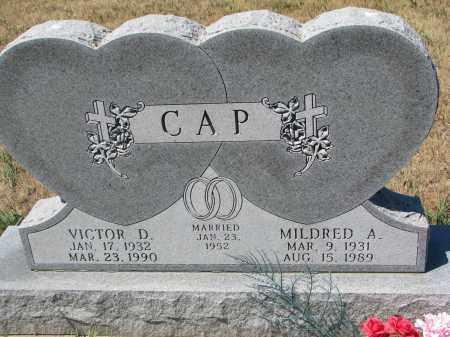 CAP, VICTOR D. - Bon Homme County, South Dakota | VICTOR D. CAP - South Dakota Gravestone Photos