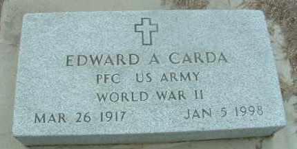 CARDA, EDWARD A. - Bon Homme County, South Dakota | EDWARD A. CARDA - South Dakota Gravestone Photos
