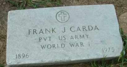 CARDA, FRANK J. - Bon Homme County, South Dakota | FRANK J. CARDA - South Dakota Gravestone Photos