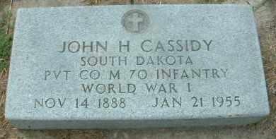 CASSIDY, JOHN H. - Bon Homme County, South Dakota   JOHN H. CASSIDY - South Dakota Gravestone Photos