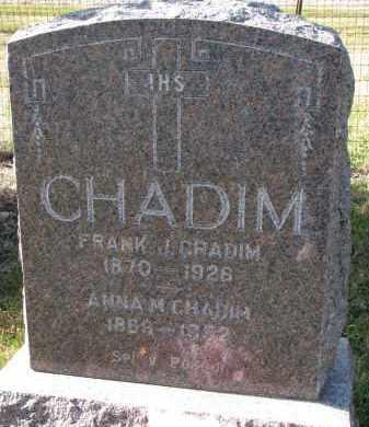 CHADIM, FRANK J. - Bon Homme County, South Dakota | FRANK J. CHADIM - South Dakota Gravestone Photos