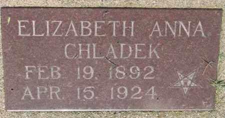CHLADEK, ELIZABETH ANNA - Bon Homme County, South Dakota | ELIZABETH ANNA CHLADEK - South Dakota Gravestone Photos