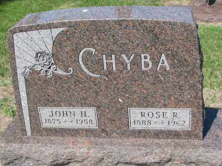 CHYBA, JOHN H. - Bon Homme County, South Dakota | JOHN H. CHYBA - South Dakota Gravestone Photos
