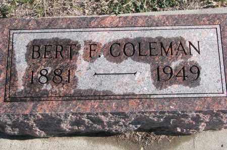 COLEMAN, BERT F. - Bon Homme County, South Dakota | BERT F. COLEMAN - South Dakota Gravestone Photos