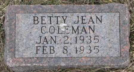 COLEMAN, BETTY JEAN - Bon Homme County, South Dakota | BETTY JEAN COLEMAN - South Dakota Gravestone Photos