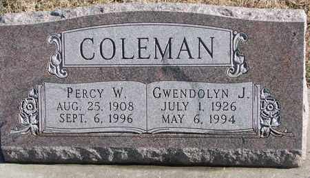 COLEMAN, GWENDOLYN J. - Bon Homme County, South Dakota | GWENDOLYN J. COLEMAN - South Dakota Gravestone Photos