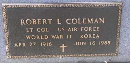 COLEMAN, ROBERT L. - Bon Homme County, South Dakota | ROBERT L. COLEMAN - South Dakota Gravestone Photos
