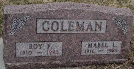 COLEMAN, MABEL L. - Bon Homme County, South Dakota | MABEL L. COLEMAN - South Dakota Gravestone Photos