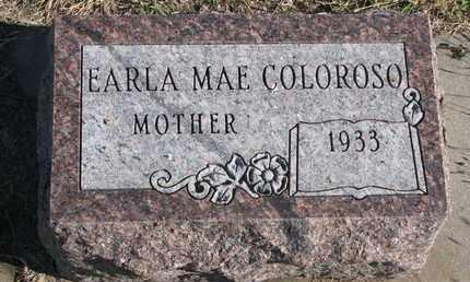 COLOROSO, EARLA MAE - Bon Homme County, South Dakota | EARLA MAE COLOROSO - South Dakota Gravestone Photos