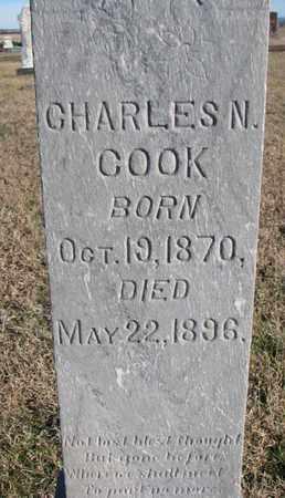 COOK, CHARLES N. (CLOSEUP) - Bon Homme County, South Dakota | CHARLES N. (CLOSEUP) COOK - South Dakota Gravestone Photos