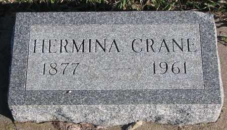 CRANE, HERMINA - Bon Homme County, South Dakota | HERMINA CRANE - South Dakota Gravestone Photos