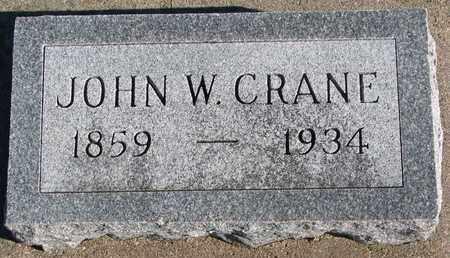 CRANE, JOHN W. - Bon Homme County, South Dakota | JOHN W. CRANE - South Dakota Gravestone Photos