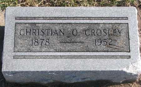 CROSLEY, CHRISTIAN O. - Bon Homme County, South Dakota | CHRISTIAN O. CROSLEY - South Dakota Gravestone Photos
