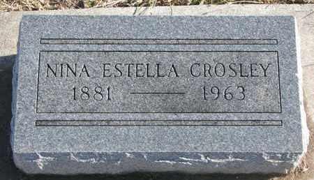 CROSLEY, NINA ESTELLA - Bon Homme County, South Dakota | NINA ESTELLA CROSLEY - South Dakota Gravestone Photos