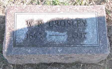 CROSLEY, W.R. - Bon Homme County, South Dakota   W.R. CROSLEY - South Dakota Gravestone Photos