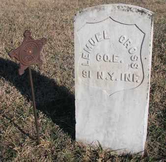 CROSS, LEMUEL - Bon Homme County, South Dakota   LEMUEL CROSS - South Dakota Gravestone Photos
