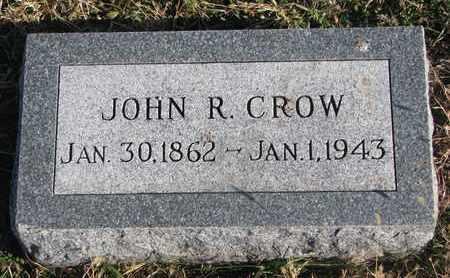 CROW, JOHN R. - Bon Homme County, South Dakota   JOHN R. CROW - South Dakota Gravestone Photos