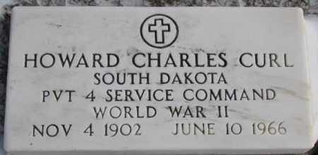 CURL, HOWARD CHARLES (WW II) - Bon Homme County, South Dakota | HOWARD CHARLES (WW II) CURL - South Dakota Gravestone Photos