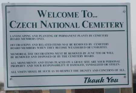 *CZECH NATIONAL - TYNDALL, SIGN - Bon Homme County, South Dakota | SIGN *CZECH NATIONAL - TYNDALL - South Dakota Gravestone Photos