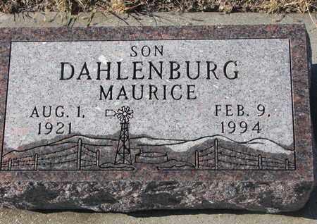 DAHLENBURG, MAURICE - Bon Homme County, South Dakota | MAURICE DAHLENBURG - South Dakota Gravestone Photos