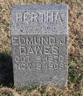 DAWES, BERTHA - Bon Homme County, South Dakota | BERTHA DAWES - South Dakota Gravestone Photos