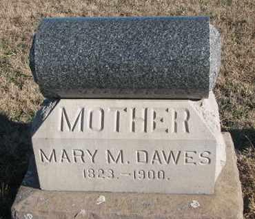 DAWES, MARY M. - Bon Homme County, South Dakota   MARY M. DAWES - South Dakota Gravestone Photos