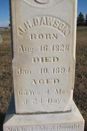 DAWSON, J.H. (CLOSEUP) - Bon Homme County, South Dakota   J.H. (CLOSEUP) DAWSON - South Dakota Gravestone Photos