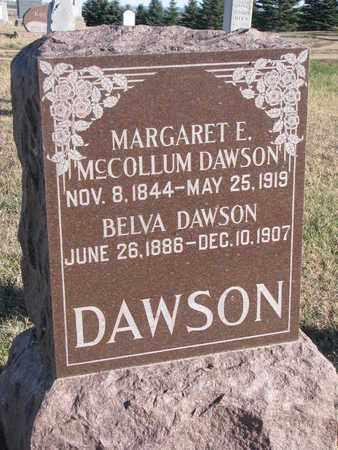 MCCOLLUM DAWSON, MARGARET E. - Bon Homme County, South Dakota | MARGARET E. MCCOLLUM DAWSON - South Dakota Gravestone Photos