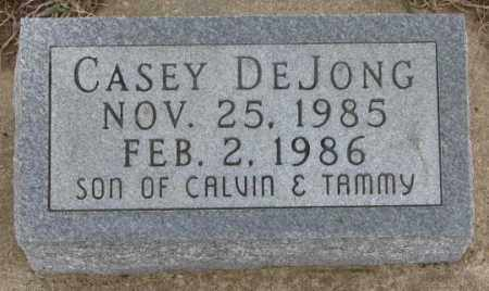 DE JONG, CASEY - Bon Homme County, South Dakota | CASEY DE JONG - South Dakota Gravestone Photos