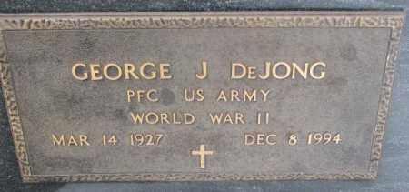 DE JONG, GEORGE J. (WW II) - Bon Homme County, South Dakota | GEORGE J. (WW II) DE JONG - South Dakota Gravestone Photos