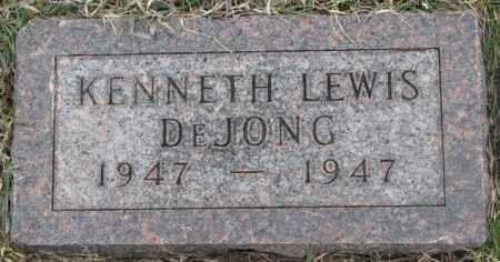 DE JONG, KENNETH LEWIS - Bon Homme County, South Dakota | KENNETH LEWIS DE JONG - South Dakota Gravestone Photos