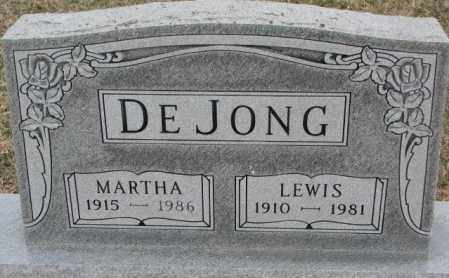 DE JONG, LEWIS - Bon Homme County, South Dakota | LEWIS DE JONG - South Dakota Gravestone Photos