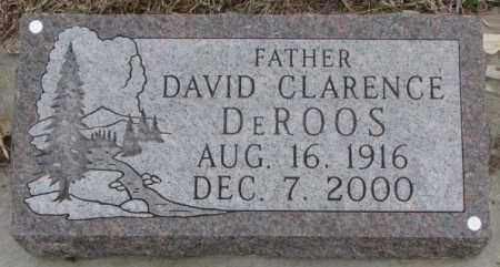DE ROOS, DAVID CLARENCE - Bon Homme County, South Dakota   DAVID CLARENCE DE ROOS - South Dakota Gravestone Photos